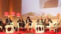 Social TV, Online-Angebote von ARD und ZDF und Leistungsschutzrechte. Elefantenrunde zum Medienforum NRW 2012