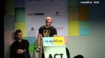 re:publica 2012: Open-Content-Lizenzen und ihre Voraussetzungen erklären Till Kreutzer und Matthias Spielkamp