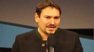 25.10.12 – Thomas Pfeiffer (Grüne) über europäische Medien- und Netzpolitik (Medientage München 2012)