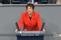 01.03.13 Abstimmung im Bundestag zum Leistungsschutzrecht für Presseverlage: Brigitte Zypries (SPD)