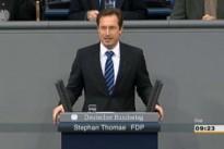 01.03.13 Abstimmung im Bundestag zum Leistungsschutzrecht für Presseverlage: Stephan Thomae (FDP)