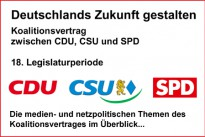 <h4>Medienpolitik:</h4>Große Koalition stellt Weichen für die digitale Medienordnung