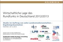 <h4>Rundfunk:</h4>So viel wie noch nie: Mehr als 550 private TV- und Hörfunkprogramme in Deutschland