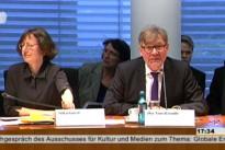 25.03.15 Öffentliche Sitzung des Ausschusses für Kultur und Medien zur weltweiten Entwicklung der Meinungs- und Medienfreiheit