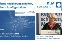 19.03.15 DLM-Symposium, Keynote Staatsministerin Prof. Monika Grütters