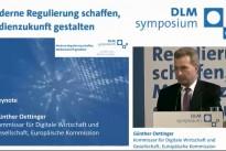 19.03.15 DLM-Symposium, Keynote Günther H. Oettinger, EU-Kommissar für Digitale Wirtschaft und Gesellschaft