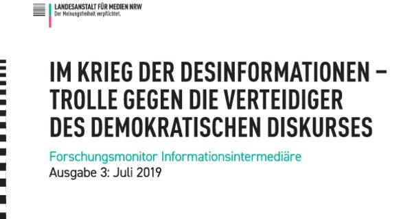 """""""Im Krieg der Desinformationen"""""""